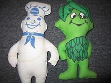 Jolly Green Giant and Pillsbury Dough Boy Stuffed Plush Dolls
