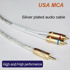 0.5M MCA Silver Plated Stereo 3.5mm Male to 2RCA Male Audio Cable Hi-Fi Original