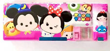 tsum mickey multifunctional automatic double layer pencil case box stationery