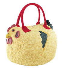 New CHICKEN HEN ROOSTER HEN Soft Rubber PURSE Bag Handbag Tote PYLONES Henbag