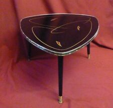 60s vintage atomic table basse triangulaire verre amoeba noir
