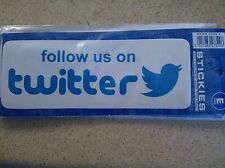 1 X NEW VINYL STICKER CAR VAN CAMPER CARAVAN  BUMPER GLASS FOLLOW US ON TWITTER