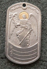 RUSSIAN DOG TAG PENDANT MEDAL  GUARD ANGEL    #105
