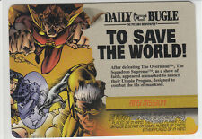 Marvel Overpower Card Game - Event - TO SAVE the WORLD - Very Rare Any Mission