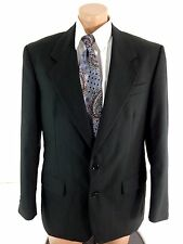 YVES SAINT LAURENT YSL MENS VINTAGE BLACK WOOL SUIT SPORT COAT 40R CANADA