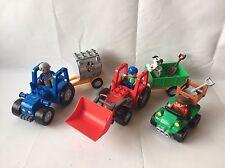 Lego Duplo 2 x tractor remolque + - camión para granja de 5647 + quad-top!