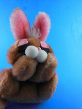 Vintage Korea made 1977 Wallace Berrie Plush Sleeping Bunny Rabbit Flopper 7""