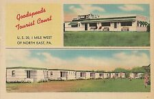 Goodspeeds Tourist Court and Dairy Bar in North East PA Roadside Postcard