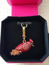 RARE! BRAND NEW JUICY COUTURE RED CARDINAL BIRD BRACELET CHARM IN TAGGED BOX