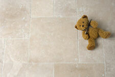 LIGHT TRAVERTINE TUMBLED ANTIQUED 305x305x10mm WALL & FLOOR TILES £29.99 PER SQM