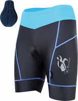 Ladies Cycling Shorts With Coolmax Padding MTB Off Road Short S- M- L- XL BLUE