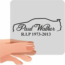Paul Walker Memorial RIP Sticker Decal Graphic Car Van Bumper Window