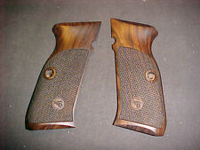 CZ 75 75B 85 85B SP01 Fine English Walnut Checkered Pistol Grips w/Logo Beauty!