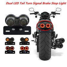 Dual Head LED LICENSE PLATE LAMP BRAKE TAIL TURN SIGNAL LIGHT FOR ATV Motorcycle