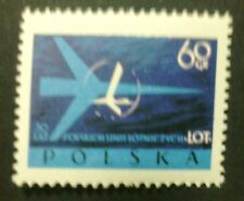 POLAND STAMPS MNH 1Fi971 Sc863 Mi1115 - Polish Airlines LOT, 1959,clean
