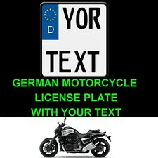 Customized MOTORCYCLE MOTORBIKE Personalized European Euro license plate German