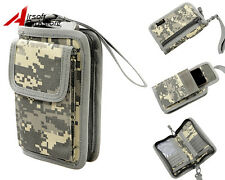 Tactical Military Outdoor 1000D Cordura Wallet Credit Card Phone Pouch Bag ACU