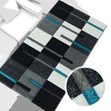 % Sale Teppich Modern Desgin Läufer Diamond Rechteck Türkis Grau Creme 80x150 cm
