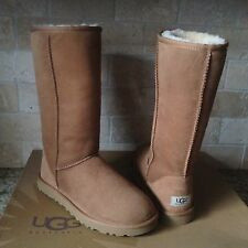 UGG Classic Tall Chestnut Suede Sheepskin Boots US 6 Womens fits Youth 4