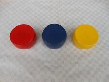 3 Kloats mit Bleikern in den Farben Rot,Blau u.Gelb / Boßeln / Scheiben / Kloat