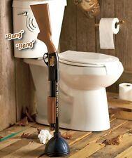 The Redneck Camping Cabin Lodge Toilet Bowl Plunger Rifle Shot Gun BANG! NEW