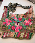 COTTON WOVEN FABRIC XLG CROSS BODY, SLING BOHEMIAN MULTI COLOR NWOT