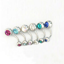 Wholesale 12PCS/Lot Jewelry Double Gems Balls Navel Belly Button Ring Piercing