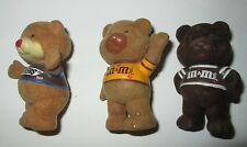 Bears, Snickers & M&Ms, Light & Dark Chocolate, Flocked, dated 1987, lot of 3