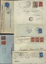 EGYPT 1930's COLLECTION OF SIX KING FUAD FRANKED COVERS VARIOUS CANCELS & ISSUES