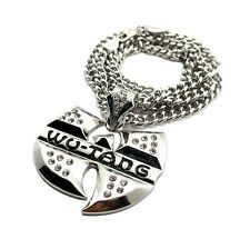 "NEW ICED OUT WU TANG HIP HOP PENDANT & 6mm/36"" CUBAN LINK CHAIN NECKLACE - XK4"