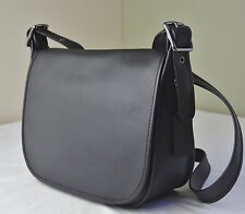 Coach 55298 Black Glove Tanned Leather Saddle Crossbody Bag