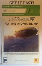 XBOX 360 ✔ GTA V 5 FLY THE ATOMIC BLIMP DLC CARD ✔ add on code bonus content