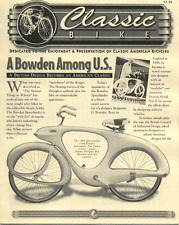 Classic Bike News BOWDEN antique bicycle newsletter Volume 1 Number 6