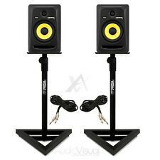 2x KRK Rokit RP6 G3 Active Powered Studio DJ Monitors w/ Gorilla GSM-100 Stands