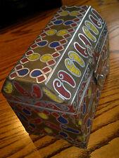 "Large Handmade Ethnic Jewellery Trinket Box Casket. 8""across,6.5""tall,5""depth"
