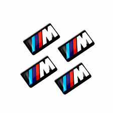 4 x BMW M Tec 3D Sticker Badge Emblem M3 Sport Alloy Steering wheel decal