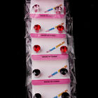 12 Pairs Mix Colour Magnetic Magnet Crystal Women Girl Clip On Ear Stud Earrings