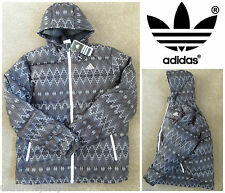 Men's ADIDAS NORDIC DUCK DOWN PADDED JACKET COAT M68803 HOODY PARKA WINTER XL