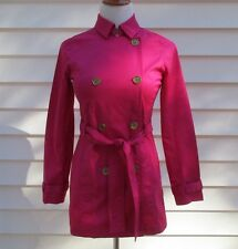 Michael Kors Pink Belted Lightweight Double Breasted Trench Coat Jacket Size P/2