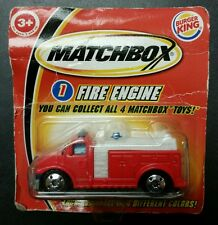 RARE RED! 2004 Matchbox FIRE ENGINE #1 ~ BURGER KING EXCLUSIVE
