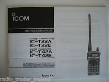 ICOM-T22A/E-T42A/E (GENUINE INSTRUCTION MANUAL ONLY).....RADIO_TRADER_IRELAND.