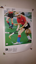 VINTAGE 1976 MONTREAL OFFICIAL COJO OLYMPICS POSTER  HOCKEY & CYCLING