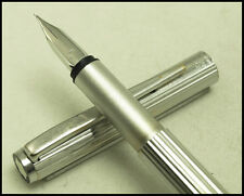 VINTAGE MONTBLANC NOBLESSE SILVER PLATED  FOUNTAIN PEN WITH 585 EF GOLD NIB
