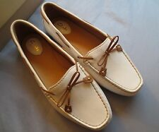 Clarks White Slip on Leather Loafers Womans shoes 9.5 W NIB Dunbar Groove EUR 41