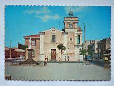 VILLASMUNDO Chiesa Madre FIAT 500 Melilli Siracusa vecchia cartolina
