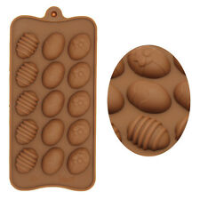 Silicone Choclate Candy Mold Bake Model Easter Egg Bakeware Cake DIY Kitchen