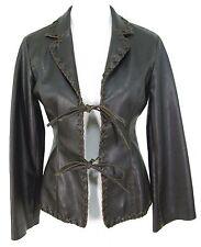 Rampage Jacket S Womens Dark Brown Vegan Faux Leather Coat Blazer Hippie Boho