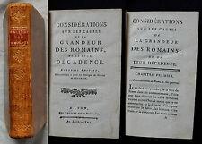 C/CONSIDERATIONS SUR LES CAUSES DE LA GRANDEUR DES ROMAINS Bruysset An XIII-1804