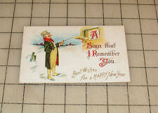 """BEST WISHES FOR A HAPPY NEW YEAR """"A Sign That I Remember You"""" Vintage Postcard"""