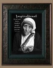 Mother Teresa Inspirational Quote Picture 8X10 New Fine Art Print Photo Jesus